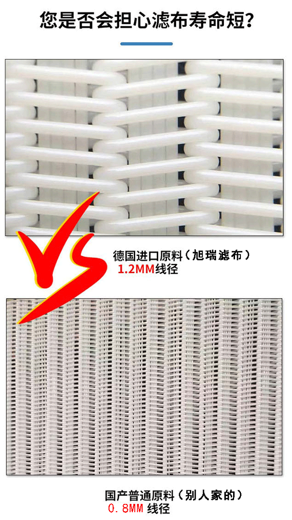 带式压滤机滤布对比图