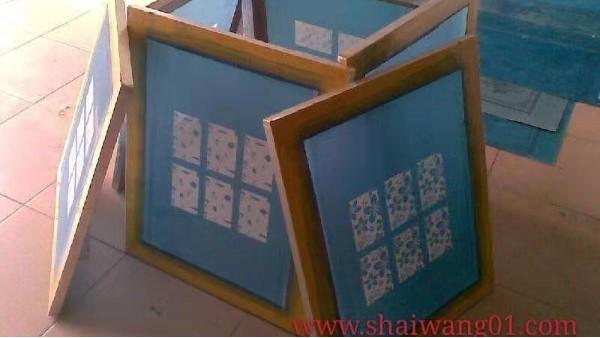 精密电子丝网印刷网板的原理和制作
