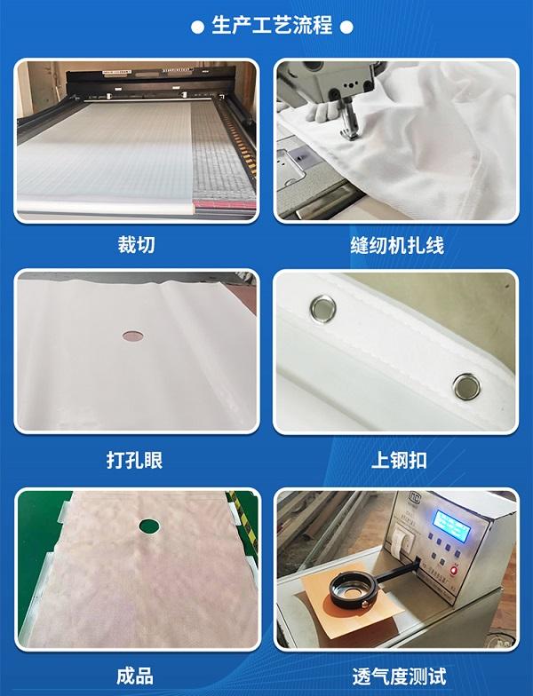板框滤布,生产工艺流程